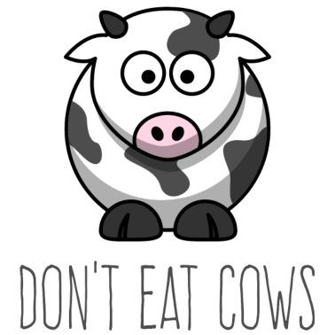 06 non-mangiare-mucche-non-mangiare-mucche-niente-mucche-maglietta-donna